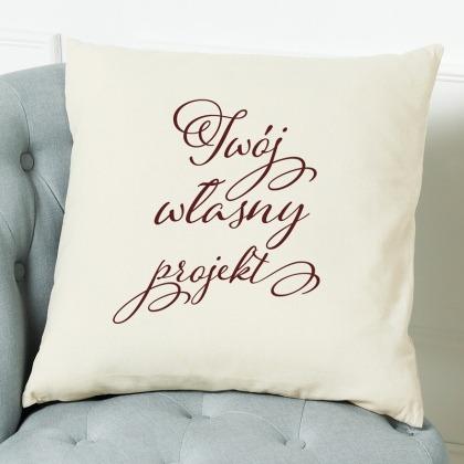 Poduszka z Twoim własnym projektem