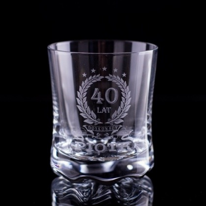 Grawerowana szklanka do whisky