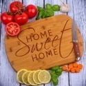 Grawerowana deska bambusowa do krojenia Home Sweet Home