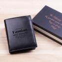 Mąż do zarabiania - grawerowany portfel skórzany