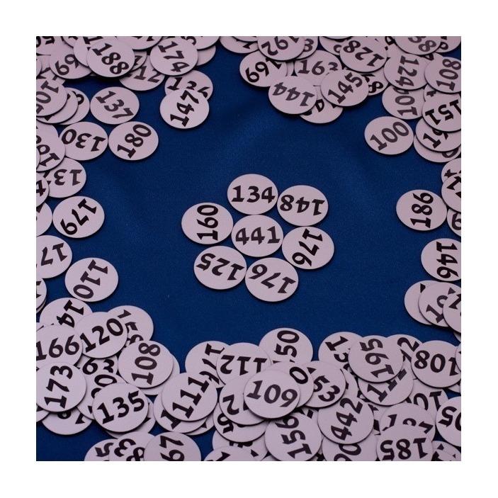 Grawerowana tabliczka z numerkiem