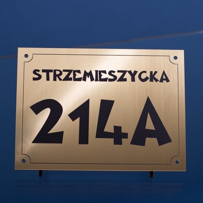 Tabliczka z numerem domu 19x14 cm