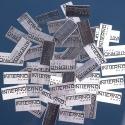 Tabliczki z logo firmy 2,5x1,25cm