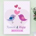 Zakochane ptaszki - obraz na płótnie